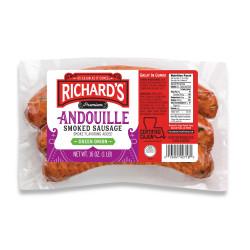 Richard's Andouille w/ Green Onion 1lb