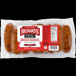 Richard's Krazy Cajun Link Hot Smoked Sausage 2.5l...