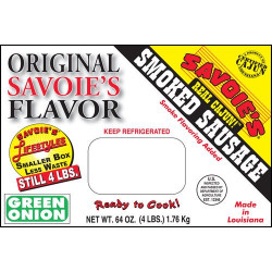 Savoie's Smoked Mixed Green Onion Sausage 64 oz