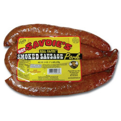 Savoie's Smoked Hot Pork Sausage 24oz