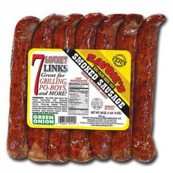 Savoie's 7 Links Smoked, Mixed Green Onion Sausage...
