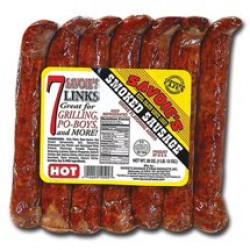 Savoie's 7 Links Smoked Hot Mixed Sausage 28oz