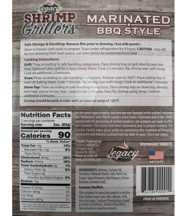 Shrimp Grillers Marinated BBQ Style 9.5oz