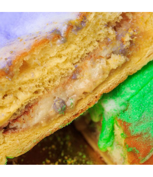 Gambino's Bavarian King Cake with icing on side