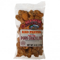Manda Cracklins Red Pepper 6oz