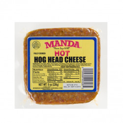 Manda Hog Head Cheese Hot 8oz